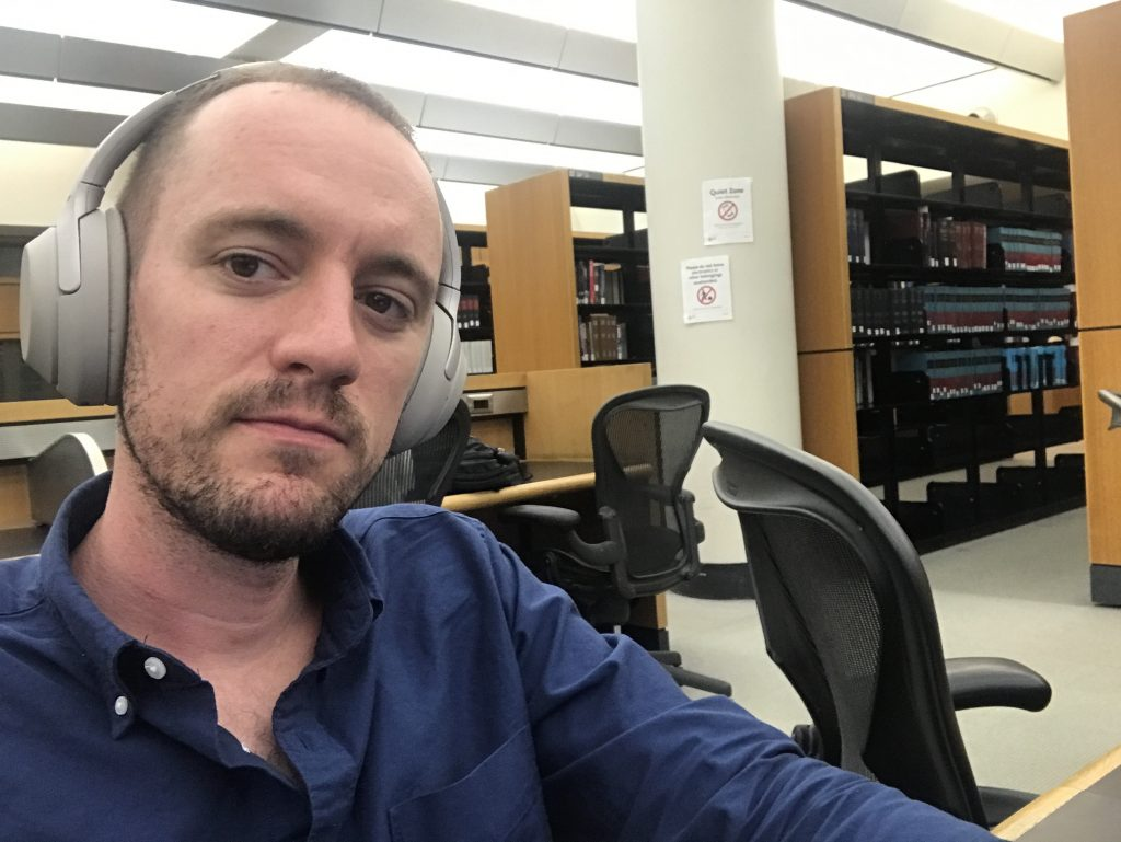 Jeff at the library